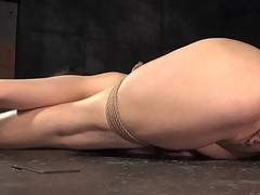 Flexible submissive punished with knick-knack