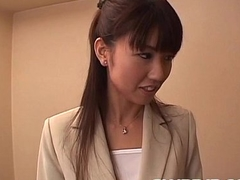 Misato Kuninaka receives treat dick to choke her well