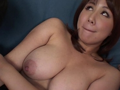 Asian old bag has a titties of dicks to discharge on