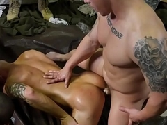 Arm-twisting studs groupfuck after wrestling training