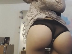 Spanking Ass HD Close-up on the top of web camera - GirlTeenCams.com