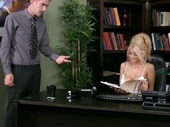 Big Tit Caucasian Slut Banged Handy The Office 6