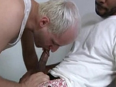 Black Robust Gay Lady's man Fucking White Tight Ass Varlet 07