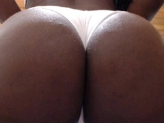 Sexy Latina with a big butt shakes it for her fans pt1