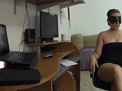She's studying and he surprised to suck pussy and masturbating with a vibrator