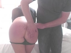 Hard Spanking exposed to Webcam