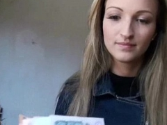 Public Pickups - Euro Legal age teenager Girl Suck Horseshit Be required of Cash In Open Public 21