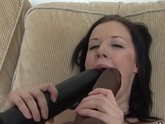 Peculiar peach spreads her twat added to enjoys hardcore coitus