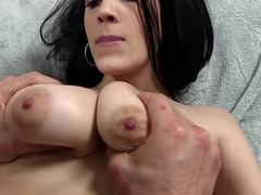 Dark Haired Natural Tit Loveliness