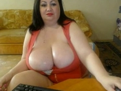 Big Bosom Brunette Mummy Shows Tits Webcam Pink Nails CamGirlCumClub.Com