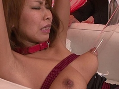 Asian babe trifle stimulated and love tunnel vibed